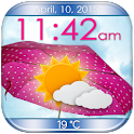 Umbrella Weather Clock Widget icon