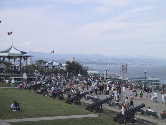 View from Dufferin Terrace. Quebec City: the Heart of Canada