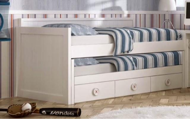 Tipos de camas para dormitorios juveniles for Habitacion infantil dos camas