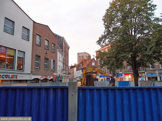 September 2013. The Minster looks on, as a church it remembers is uncovered in King's Square