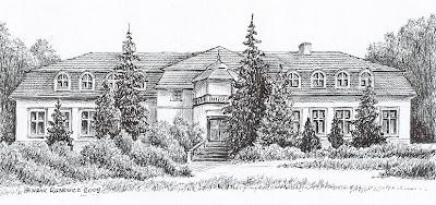 Pałac w Miłoradzicach – stan przed 1945 r.