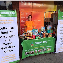 Photo: London - Food Collection for St Mungo's Homeless Shelter with thanks to Sainsbury's