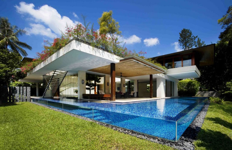 Tangga House - Awesome See-Through Pool