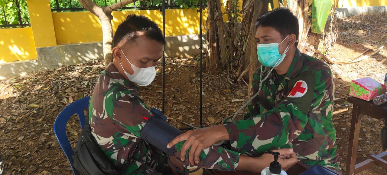 Personel TNI Tidak Luput Dari Pemeriksaan Kesehatan