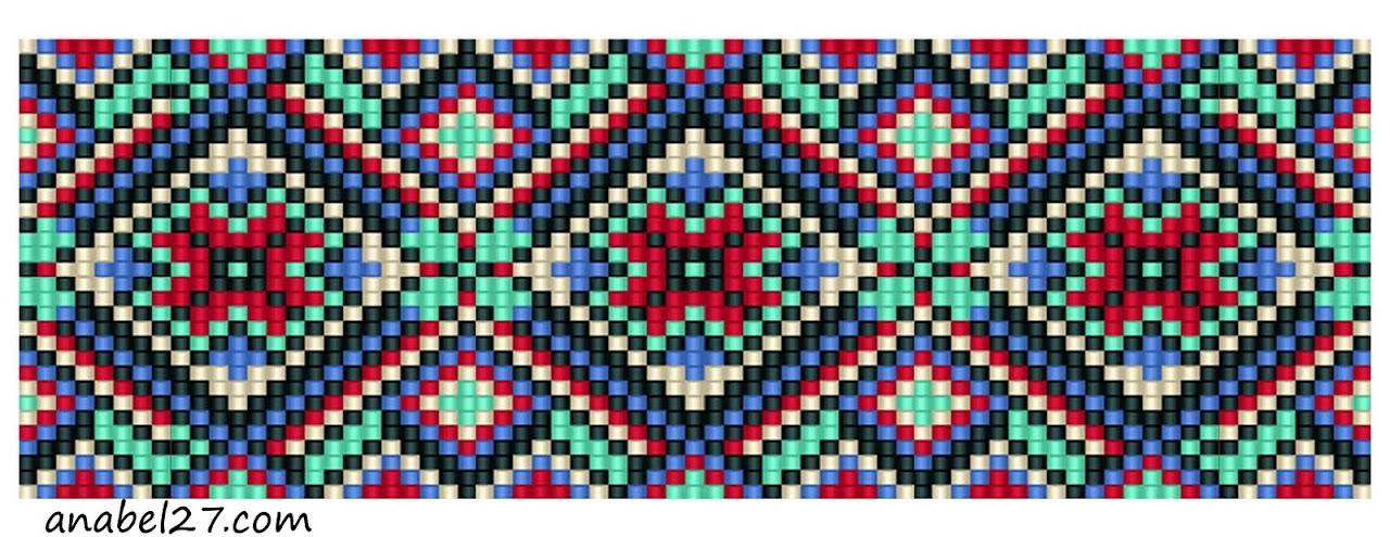 схема браслета из бисера free bead loom pattern