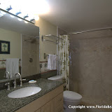 Plenty of storage in the bathroom vanity for your sundries