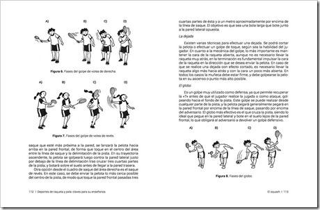 """El squash también tiene su lugar en """"Deportes de Raqueta y Pala, claves para su enseñanza""""."""