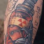 alien tattoo red baby for men - tattoos ideas