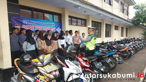 Operasi Zebra Lodaya 2018, Sat Lantas Polres Sukabumi Turun ke Sekolah