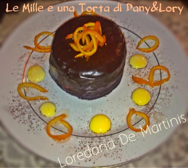 tortina al cioccolato con crema all'arancia