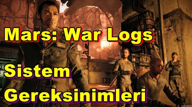 Mars: War Logs PC Sistem Gereksinimleri