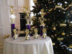 Trophies for the upcoming Dancing with the Stars fundraising event. Photos provided by organization