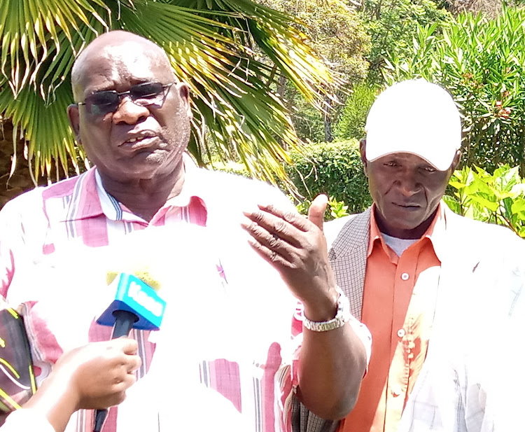 Uasin Gishu Kanu chairman David Chepsiror in Eldoret on February 13