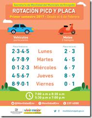 PicoyPlaca-VehiculosParticularesyMotos-PrimerSemestre2017-Envigado