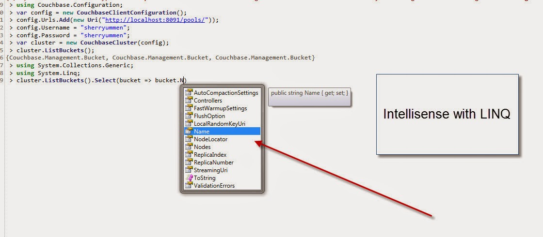 CShell Linq Intellisense