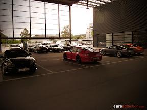 Behind the Stuttgart dealership and we find this lovely Porsche 911 GT2.