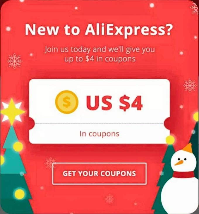 (Back Again) AliExpress App - Get $4 Off Coupon On Signup (Valid On Minimum Purchase Of $5)
