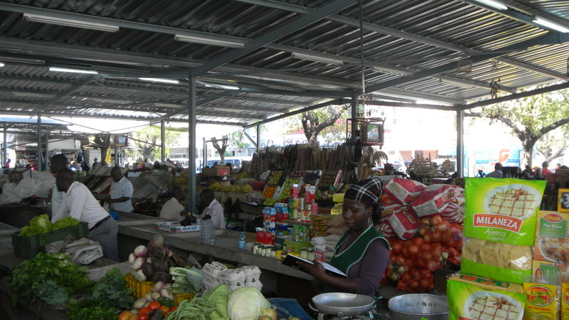 At the market in Maputo, Mozambique