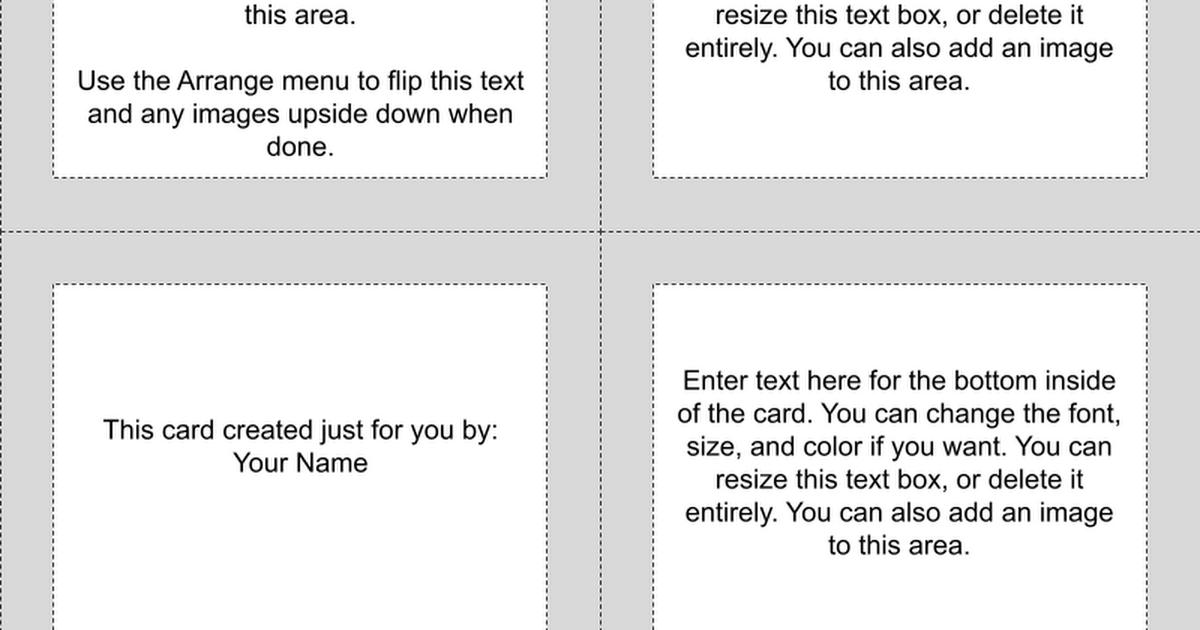 greeting card template landscape google drawings. Black Bedroom Furniture Sets. Home Design Ideas