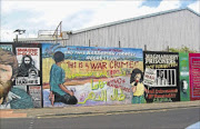 APARTHEID WALL:  A mural in Belfast, Ireland, depicting a number of causes, among them Israeli apartheid.