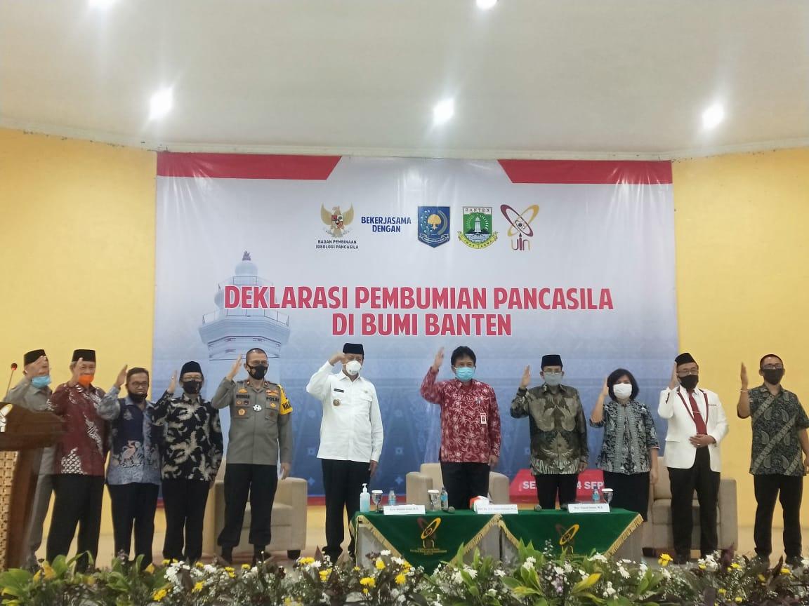 Wakapolda Banten Hadiri Deklarasi Pembumian Pancasila di Bumi Banten