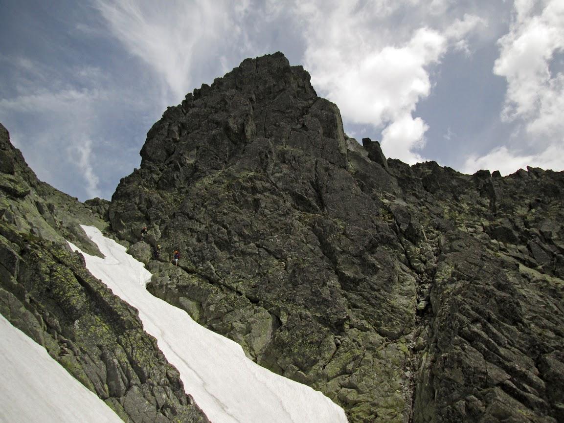 Podejście na Gankową Przełęcz