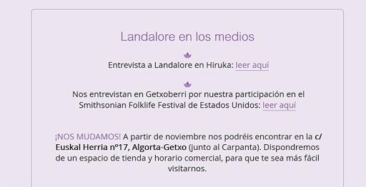 Información en página web