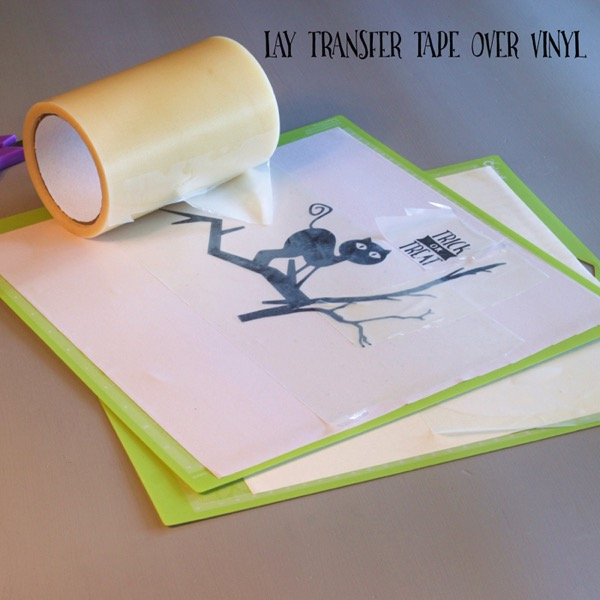 Use transfer tape on vinyl