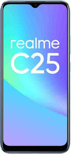 New Mobile phones Realme C21 C25 battery, display, Ram and storage, processor.
