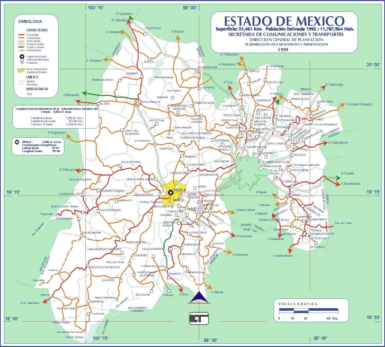 estado de mexico mapa
