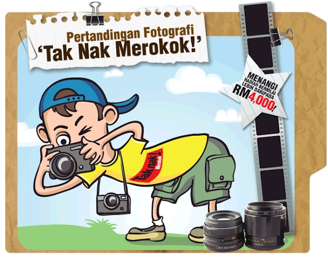 PERTANDINGAN FOTOGRAFI TAK NAK MEROKOK!