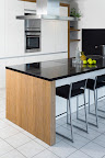 Polished Beach Black kitchen worktops
