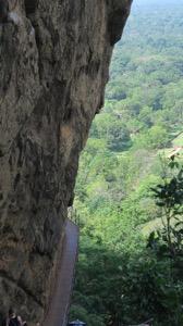 Walkway on face of Sigiriya