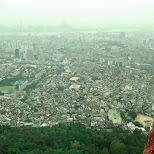 view from N Seoul tower in Korea in Seoul, Seoul Special City, South Korea