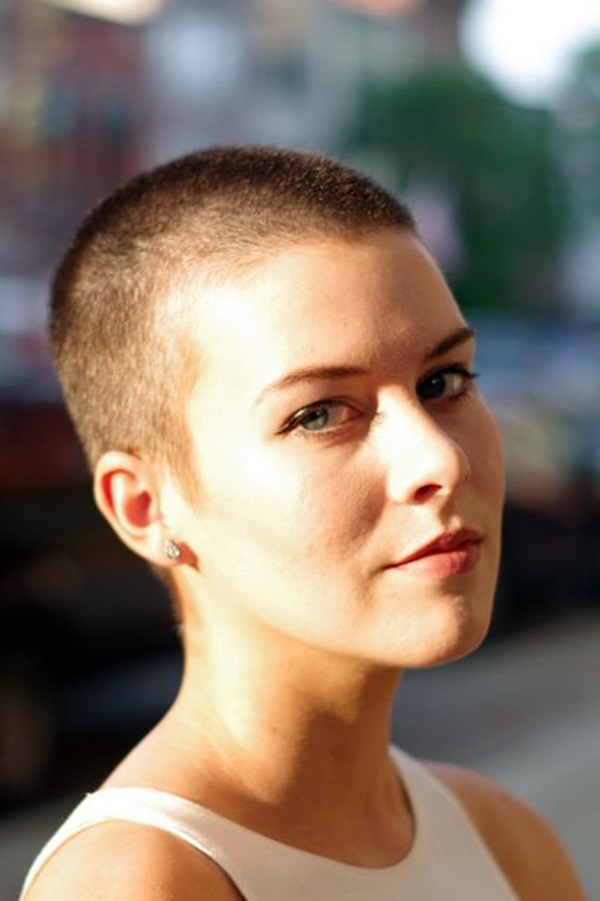 Buzzed shaved haircuts for women