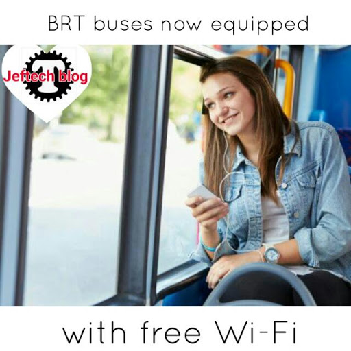 BRT Buses Now Equipped With Free Wi-Fi.