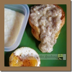 Everyday Cooking- Popover with Sausage Gravy