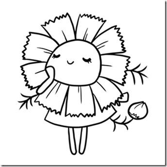 flore sencillas para colorear  (2)