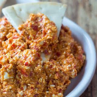 5 Minute Greek Feta and Red Pepper Dip.