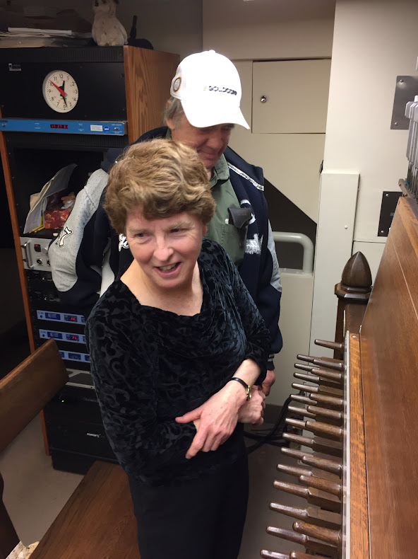 Andrea McCrady, our Dominion Carillonneur welcomes guests