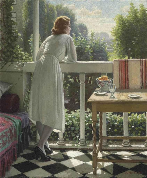 Harold Knight - Miss Gladys on the veranda