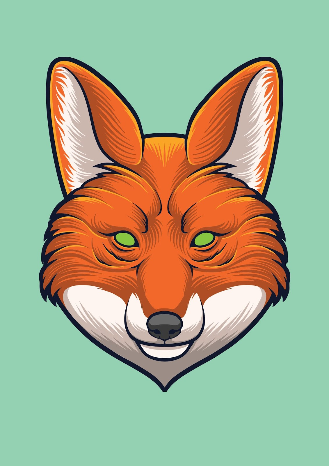 Fox Head Vector Design Illustration Free Download Vector CDR, AI, EPS and PNG Formats