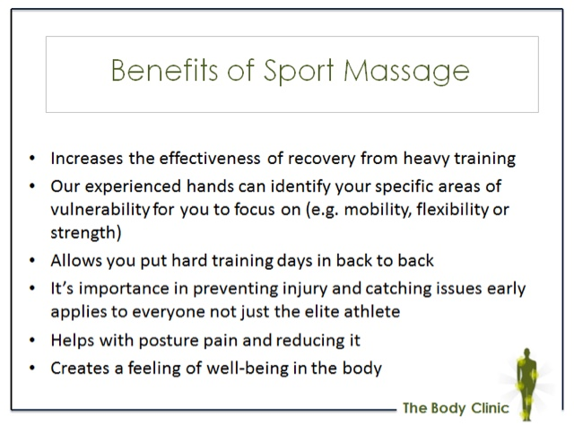 Sportmassage goes