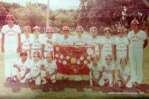 Equipo de Sabinas Hidalgo campeón nacional menor de 1982