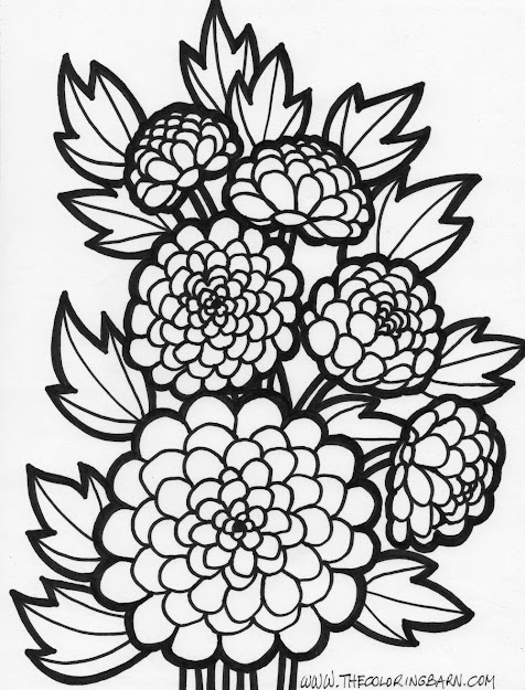 Flower Coloring Pages Free With Kids Fun  Pages  Garden