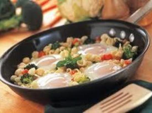 Creamy Pasta And Egg Skillet Recipe