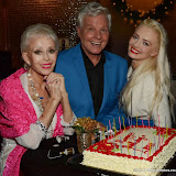 WWW.ENTSIMAGES.COM -   Sally farmiloe-Neville, Jess Conrad and Lana Holloway  at    Lana Holloway - birthday party at Avista Bar, The Millennium Hotel Mayfair, London December 16th 2013                                                   Photo Mobis Photos/OIC 0203 174 1069