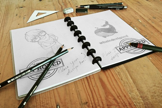 Sketch book o cuaderno de bocetos, Mock-up PSD