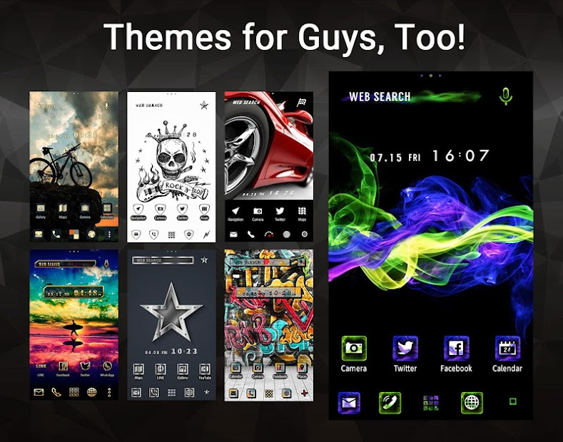 Wallpaper theme home launcher apps on google play for Wallpaper home launcher