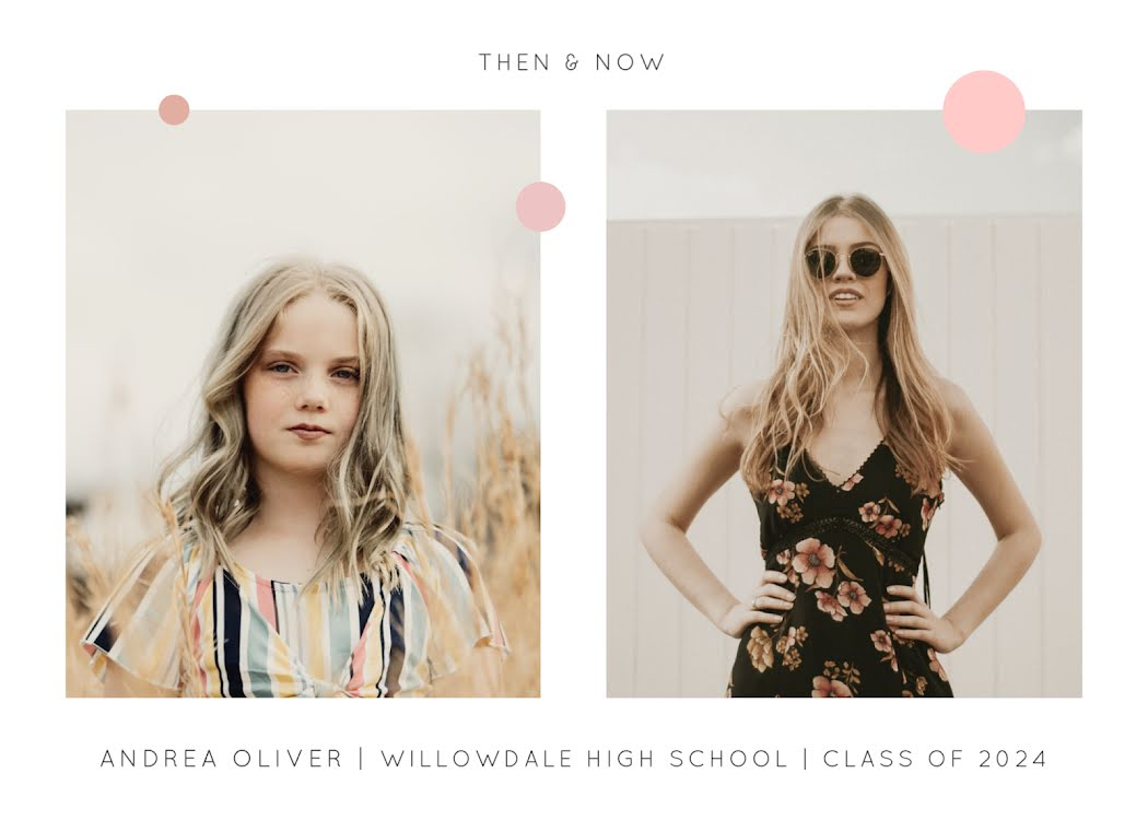 Then & Now - Photo Card Template